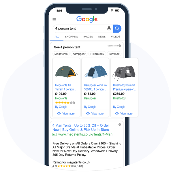 E-commerce SERPs for Paid Search